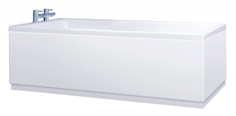 Custom Length High Gloss White 2 Piece Bath Panels